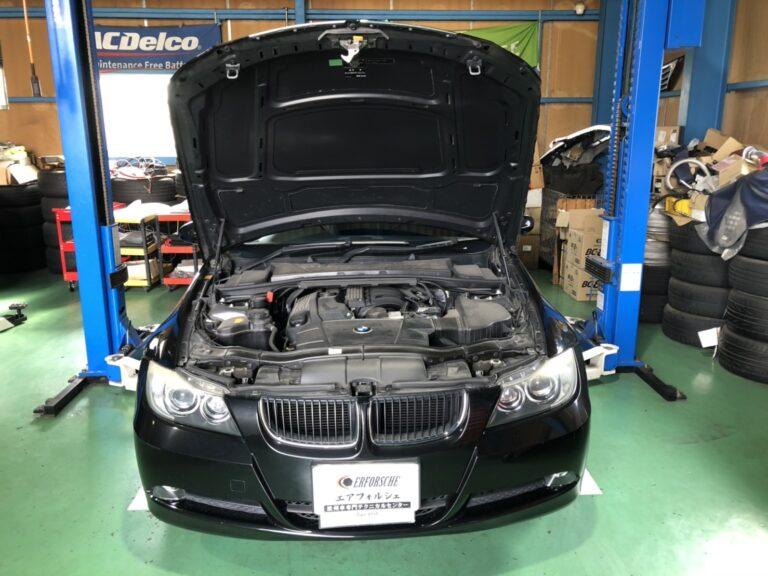 BMW E90 320 バッテリー警告灯 点灯!!