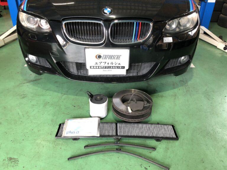 BMW E92 車検整備、plus α 装着!!
