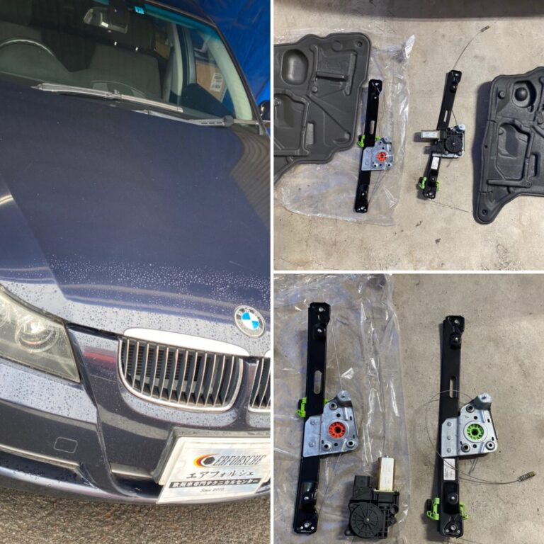 BMW E90 リアドアガラス不動!!
