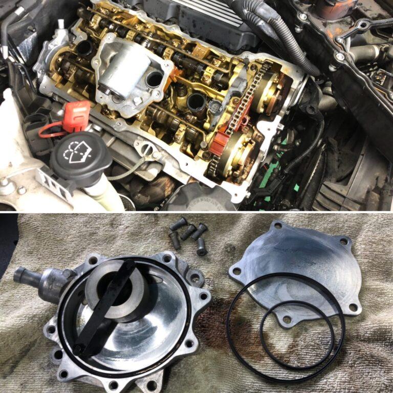 BMW  E87 エンジンオイル漏れ修理!!