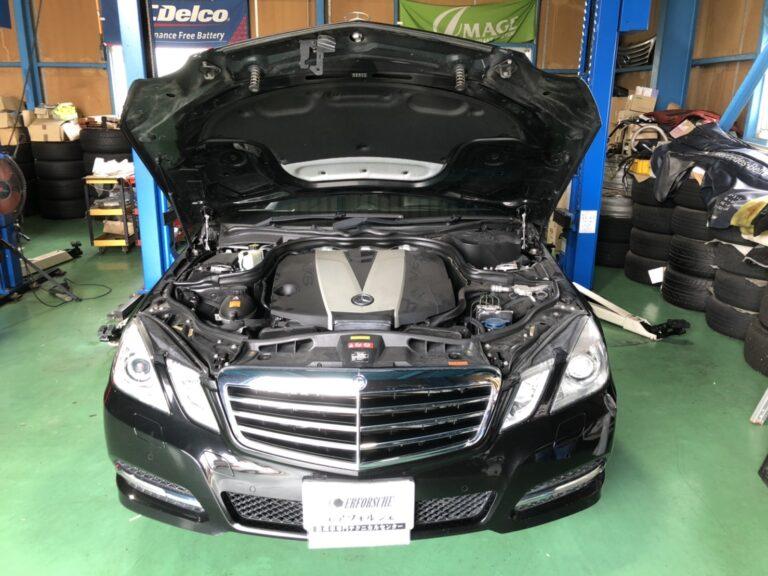 ベンツ W212 ディーゼル エンジンチェックランプ点灯!!